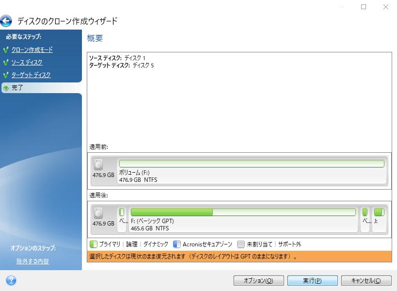 インテル® データ・マイグレーション・ソフトウェアを実行。