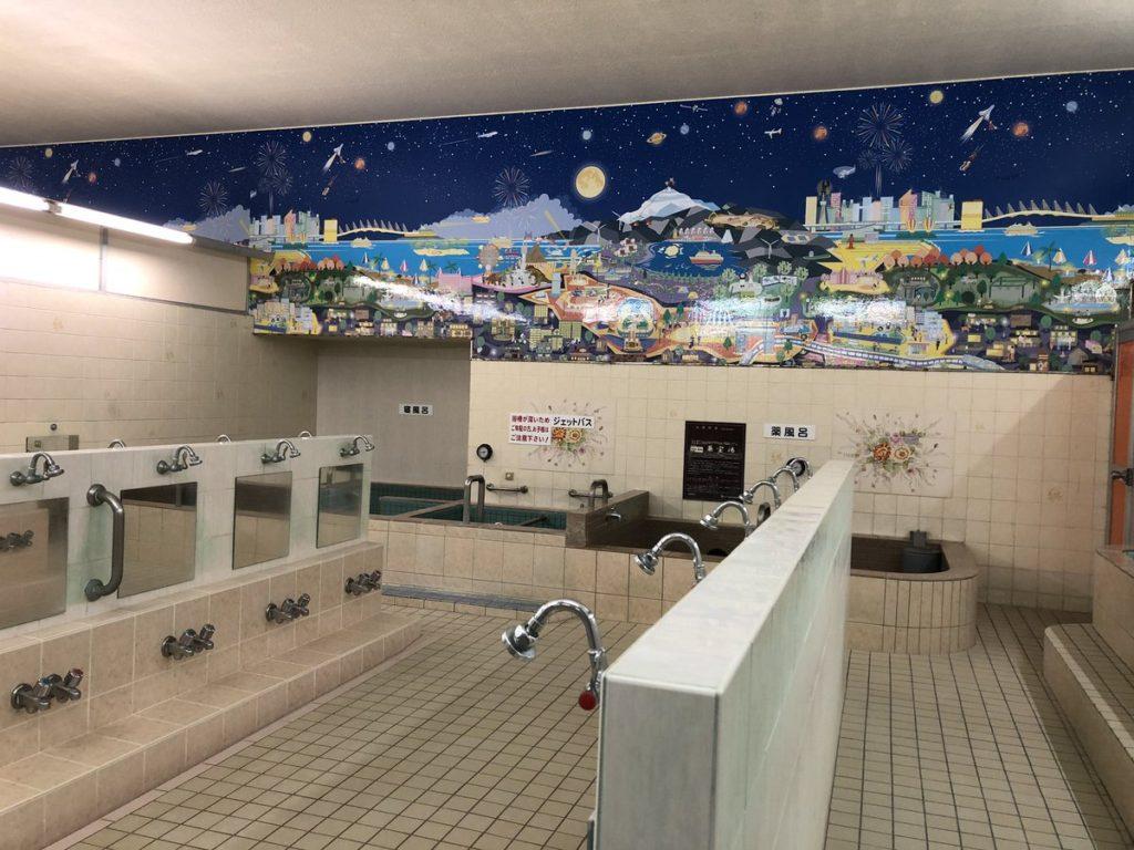 浴室壁画2(大塚記念湯Twitterより)